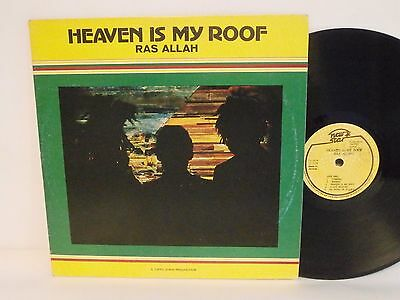 70s Roots Reggae RAS ALLAH heaven is my roof Rare Jamaican Vinyl LP PLEASE READ!