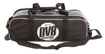 DV8 Tactic Triple 3 Ball Tournament Tote Bowling Bag with wheels Color Black