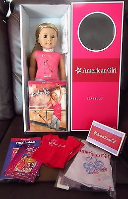 "NIB Lot 18"" American Girl Doll of the Year, Isabelle w/ Book, Plus Extras!  8+"