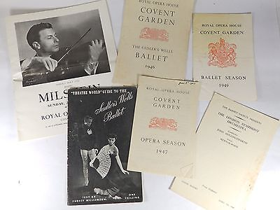 6 x Vintage Classical Programmes - Opera, Ballet and Concert - 1940's