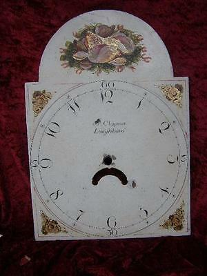 Large Antique Pinted Long Cased Clock Dial Grandfather Clock Face Spare Parts