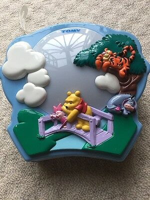 Tomy Winnie The Pooh Night Light Projector Baby Cot Music Nursery