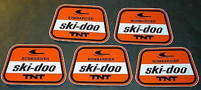 (5) Vintage Bombardier Ski-Doo T'nt Snowmobile Decals    (814)