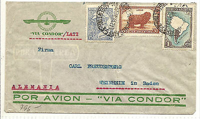 LATI Italy   Argentinal To Germany Single Rate  Censored WW II  1941