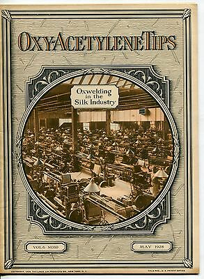 """Vintage """"Linde Air Products"""" Welding Magazine: """"OXY-ACETYLENE TIPS"""" - May 1928"""