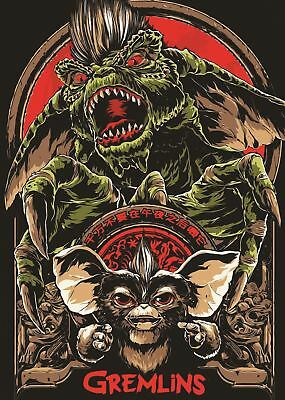 Gremlins Movie Cult Classic Poster Picture Wall Art Print A3 Amk2424