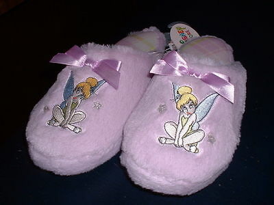 Disney Store Tinkerbell Lilac Slippers Size 7/8 BRAND NEW!
