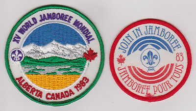 Two 1983 World Jamboree badges. Contingent and Join in Jamboree