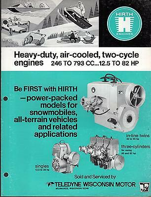 Hirth Snowmobile Engines Specification Brochure 246 To 793 Cc Honker  (390)