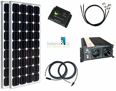 komplett 220v solaranlage akku 100ah 100w solarpanel 1000w camping watt garten eur 479 00. Black Bedroom Furniture Sets. Home Design Ideas