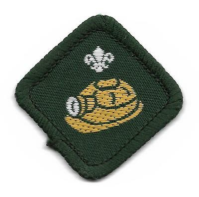 Caver Proficiency Scout Badge With Filled In Fleur De Lys And White Back