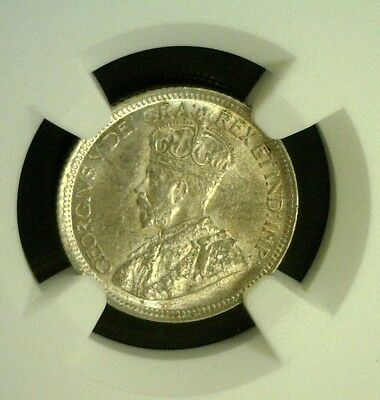 1936 Canada Silver Ten Cents Ngc Ms61   (1605Nam)