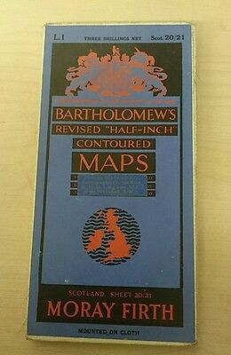 Bartholomew's Revised Half Inch Contoured Map - Sheet 20/21 Moray Firth (Cloth)