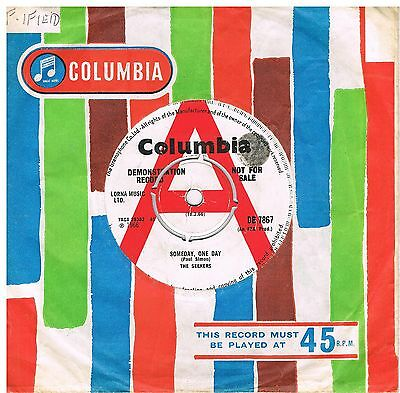 THE SEEKERS Someday one day / Nobody knows the trouble I've seen Columbia DB7867