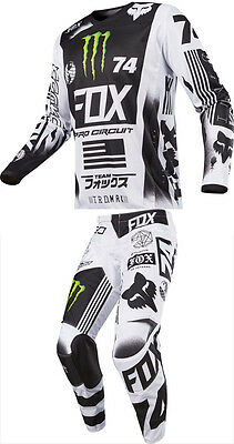 Fox Racing 180 Monster/Pro Circuit Special Edition Gear Combo 36/XL Motocross