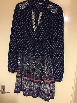 BN - George Navy Blue multi Tunic Top - size 12