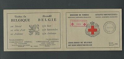 Belgium 1953 Red Cross Used Booklet (sg 1438 Stamps)