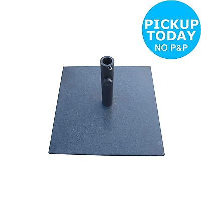 Granite Natural Square Parasol Base - Black.From the Official Argos Shop on ebay