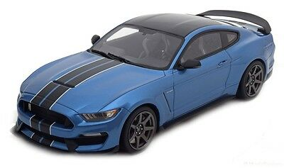 Modelcar Scale 1/18 GT Spirit 1:18 Shelby GT350R blue with black stripes