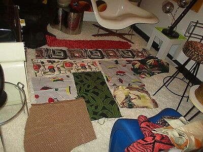 various mid century 1950's and 1960's vintage fabric pieces