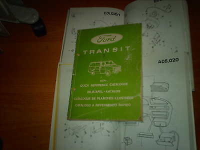 Ford Parts Catalogue Transit 1978 on Van Bus Chassis Cab