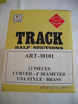 Aristo Craft Trains ART-30101 4' 4ft Curve Track, US Brass,12 Pieces,#1 G Scale