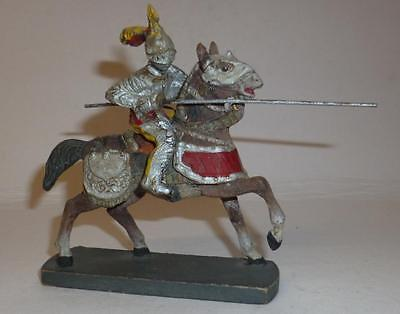 Elastolin Vintage Composition Rare 1930/50's Mounted Knight With Lance #2