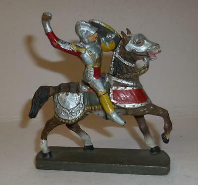 Elastolin Vintage Composition Rare 1930/50's Mounted Knight #3