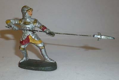 Elastolin Vintage Composition Rare 1930/50's Foot Knight Defending With Pike