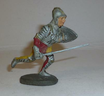Elastolin Vintage Composition Rare 1930/50's Foot Knight Running With Sword