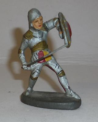 Elastolin Vintage Composition Rare 1930/50's Foot Knight Defending With Sword
