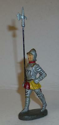 Elastolin Vintage Composition Rare 1930/50's Foot Knight Marching With Pike