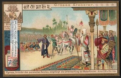 Cyrus The Great - Founder Of Persia Iran c1903 Trade Card