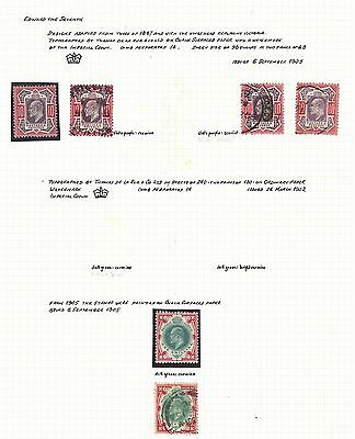Lot:17910  GB EDVII  Jubilee Style 6d to 1s inc mint pairs