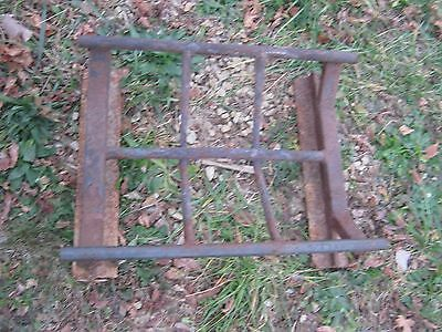 Vintage Primitive Rustic Rusty Handmade Welded Fireplace great for decor