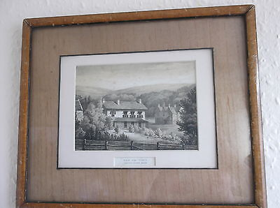 Framed Glazed Antique Print Of The Rectory Weston Super Mare