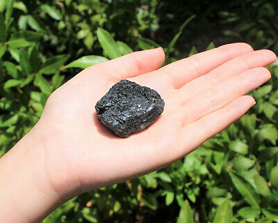 "Rough Black Tourmaline Regular Grade: 1 LARGE Natural Raw Crystal (2"" - 2.5"")"