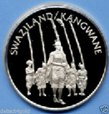 Swaziland Silver Coin Medal W/ Postage Stamp Cover