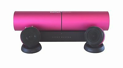 MP3 Laptop Computer 3.5 mm Stereo Speakers - Edifier Aurora MP300 Set - Pink NEW