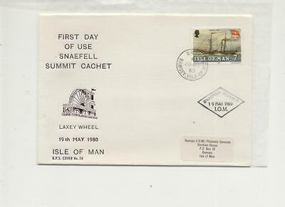 Isle of Man 1980 First Day of Use of Snaefell cachet Cover