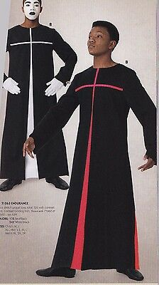 NWT boys Mens Praise Dance Liturgical church Longsleeve Church Robe Black