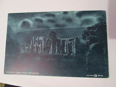 Postcard of Melrose Abbey from the South Unposted Reliable Series