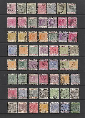 Cyprus QV - KGV collection , 56 stamps