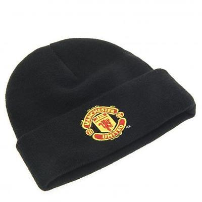 Manchester United Football FC Knitted Hat Black TU New