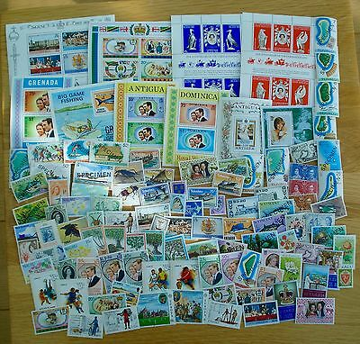 Commonwealth- 10 UMM MS & 100 UMM Stamps All Different Includes Some Sets Lot 29
