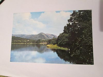 Postcard of Grasmere Lake and Helm Crag posted 1971