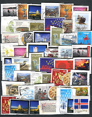 Iceland 50 Recent Stamps on Paper Kiloware
