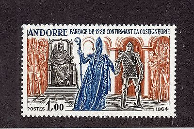 Andorra French - Sc# 160 MH  - Lot 0615134