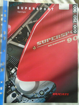 Ducati Supersport Superlight motorcycle brochure c1994 German & English text