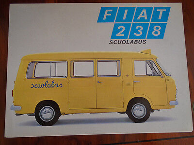 Fiat 233 School Bus brochure c1970's Italian text